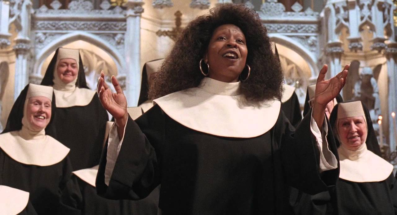 Whoopi Goldberg in Sister Act.